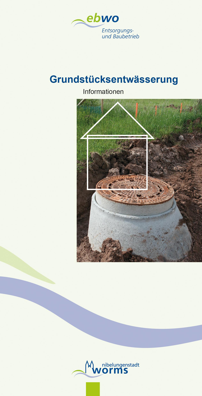 Per Flyer informiert der ebwo über das Thema Entwässerung.