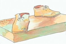 Luther's Big Shoes, drawing: Constanze Illig