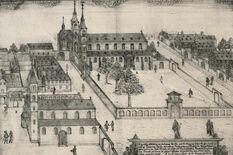 St Magnus' Church and St Andrew's Seminary as they were before 1689, drawing by Hamman, photo: Worms City Archive