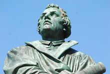 Martin Luther, the central figure in the Luther Monument, photo: Rudolf Uhrig