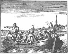 Peter Pietersz made his boat available for secret services. Image by Jan Luyken, 1685, Wikimedia Commons