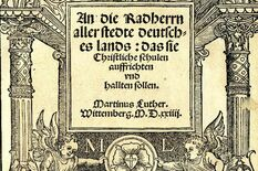 Cover of Martin Luther's Letter to the Aldermen, photo: Worms City Library