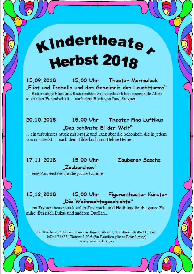 Kindertheater Herbst 2018