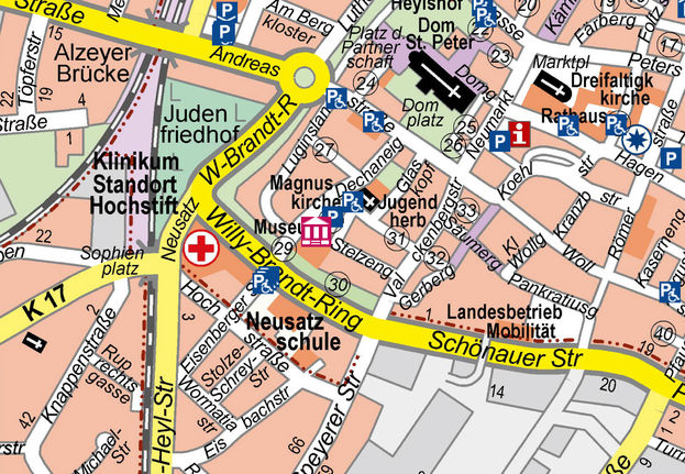 Click here for a map of the city in English